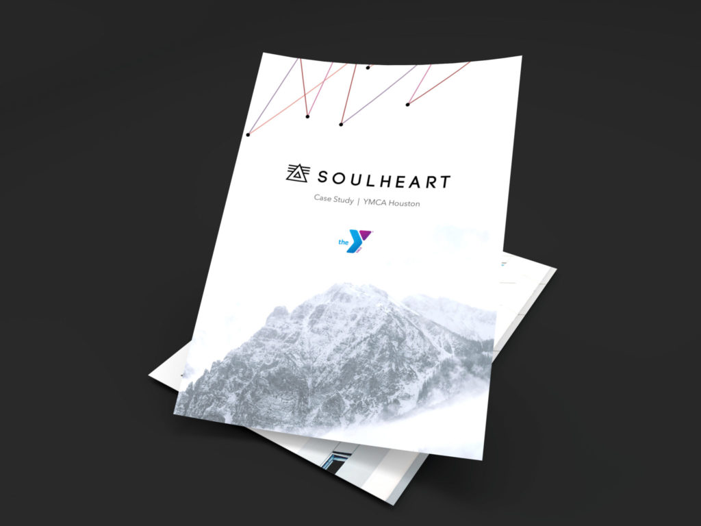 YMCA Houston Case Study. Marketing Case Study. Image of a beautifully designed pdf of a case study done on soul heart's marketing effectiveness for the YMCA Houston.