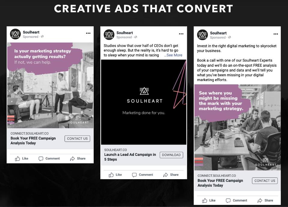 Soulheart social ads for inbound marketing